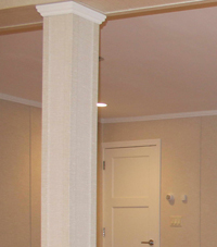 Easy Wrap column sleeves in Greensburg basement