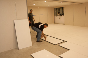 Installing insulated subfloor panels in Monroeville