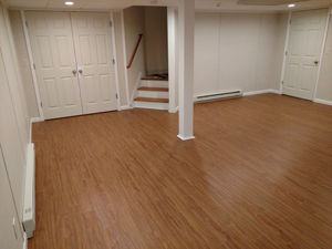 Basement Flooring After in Monroeville