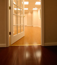 Basement Wood Flooring installed in Cranberry Township, Pennsylvania