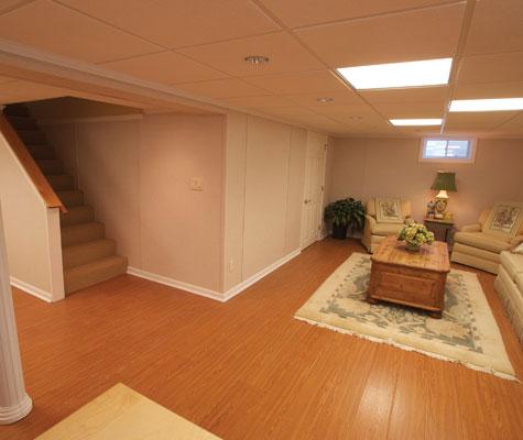 Basement Flooring In PA Wood Finish Basement Flooring In