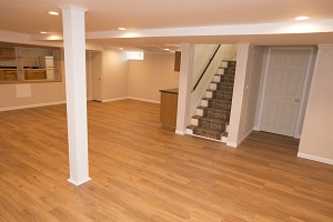 Total Basement Finishing system installed in Pittsburgh