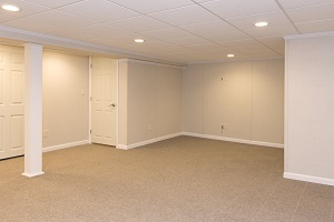 A complete finished basement system in a Mc Kees Rocks home