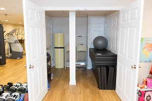 TBF finished basement with home gym in Pittsburgh
