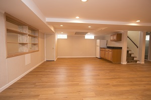 A beautiful, finished basement in Greater Pittsburgh