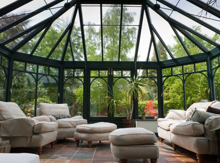 Conservatory sunrooms provide a classic domed appearance that makes ...
